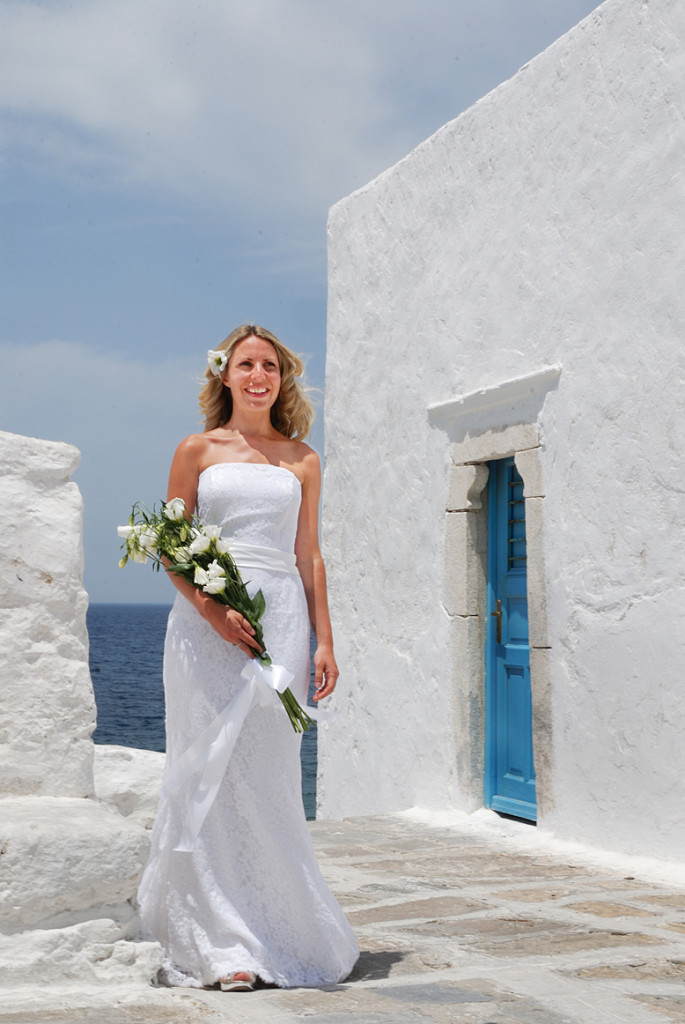 Bridal photos in Mykonos