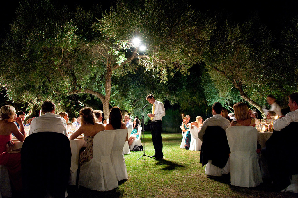 Groom's speech in Arcos Gardens
